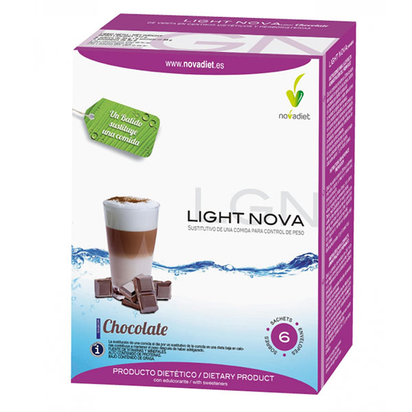 BATIDO LIGHT NOVA Chocolate (6 sobres)