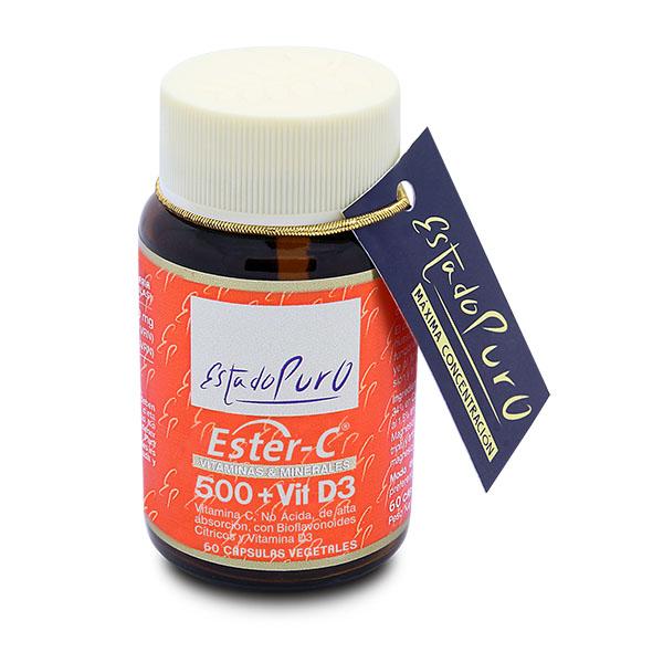 ESTER-C 500 + Vit D3 (60 cápsulas)