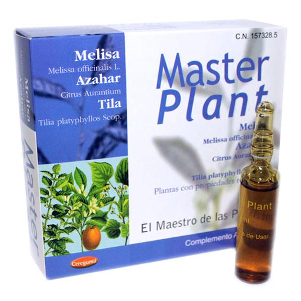 MASTER PLANT Melisa, tila y azahar (10 ampollas)