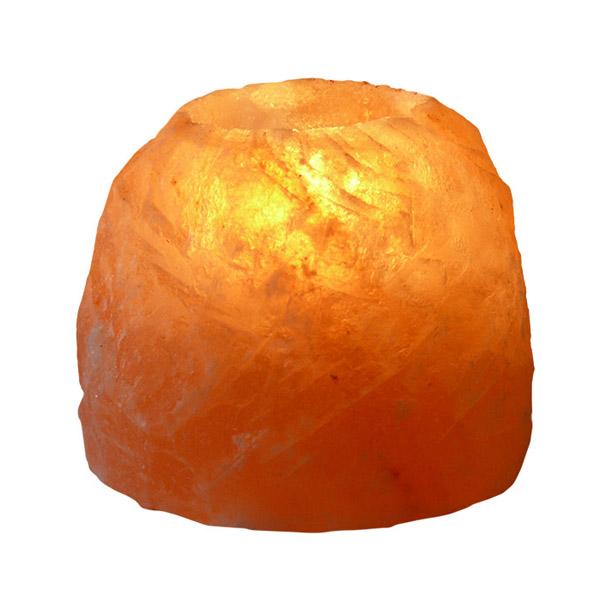 PORTAVELAS de cristal de sal (700 gr.)