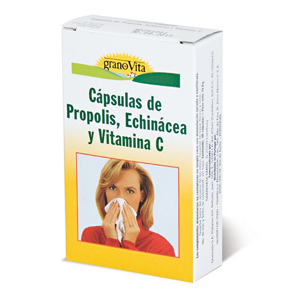 PROPÓLEO, ECHINACEA y VITAMINA C (75 cápsulas)