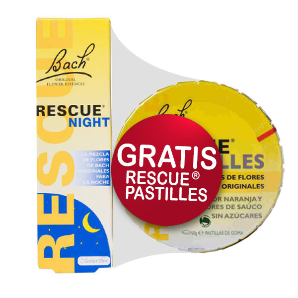 Rescue NIGHT (20 ml.) + caramelos Rescue de regalo