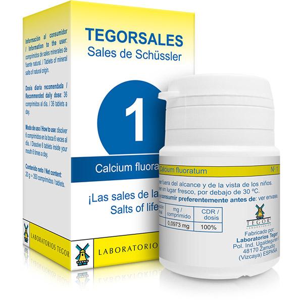 TEGORSAL 1 Calcium Fluoratum (350 compr.