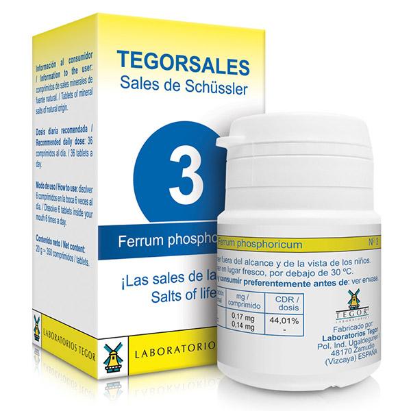 TEGORSAL 3  Ferrum Phosphoricum (350 compr.)