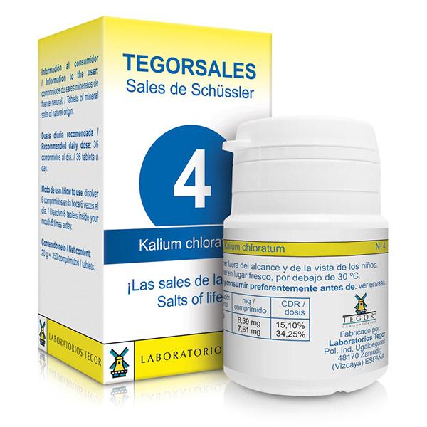 TEGORSAL 4 Kalium Chloratum (350 compr.)