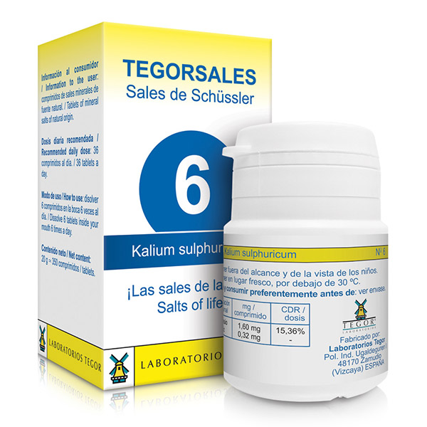 TEGORSAL 6 Kalium Sulphuricum (350 compr.)