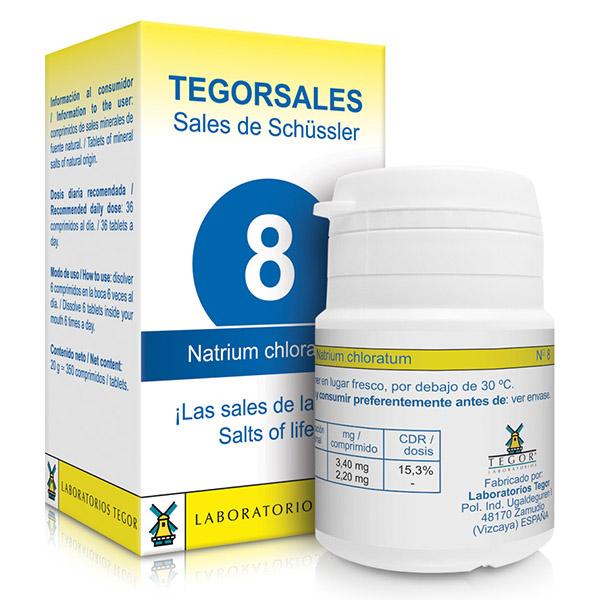 TEGORSAL 8 Natrium chloratum (350 compr.)