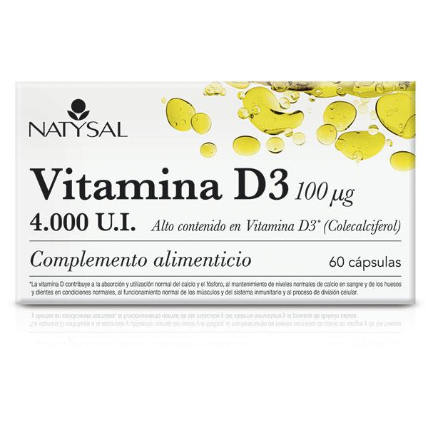 VITAMINA D3 4000 U.I. (60 cápsulas)