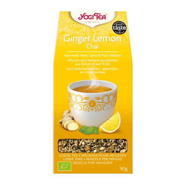 YOGI TEA Jengibre y limón Chai bio  (90 gr.)