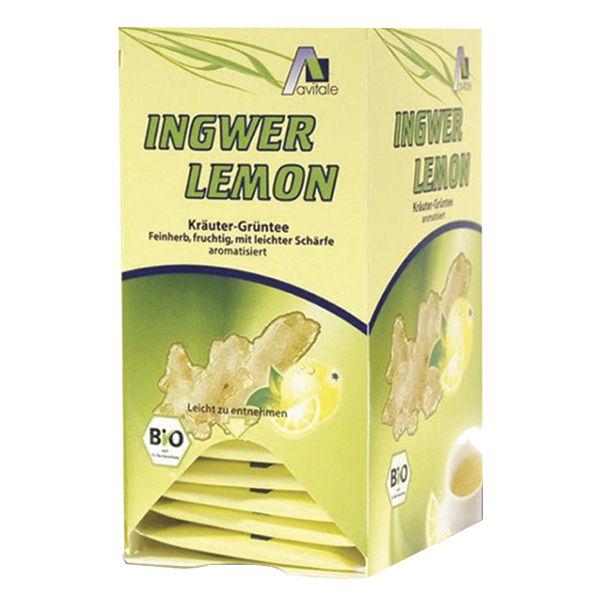 INFUSIÓN Jengibre-Limón con té verde (20 filtros)