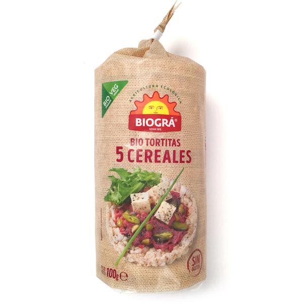 Tortitas 5 CEREALES bio (100 g.)