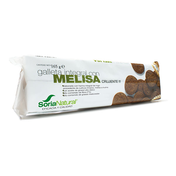 GALLETA INTEGRAL CON MELISA (165 gr.)