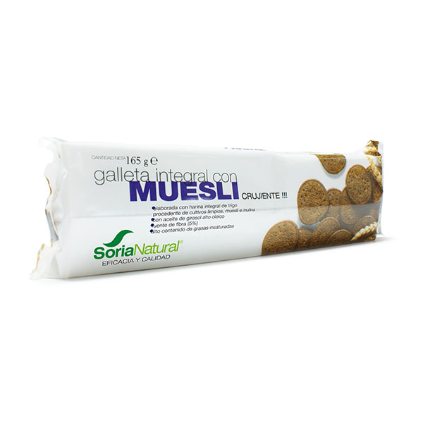 GALLETA INTEGRAL CON MUESLI (165 gr.)