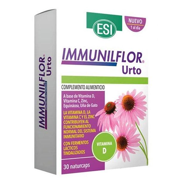 IMMUNILFLOR URTO +  vitamina D (30 cápsulas)