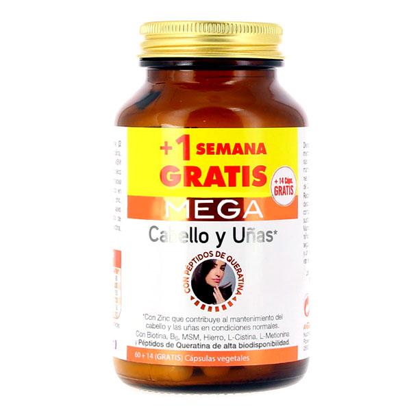 MEGA Cabello y uñas (60 cápsulas +14 gratis)