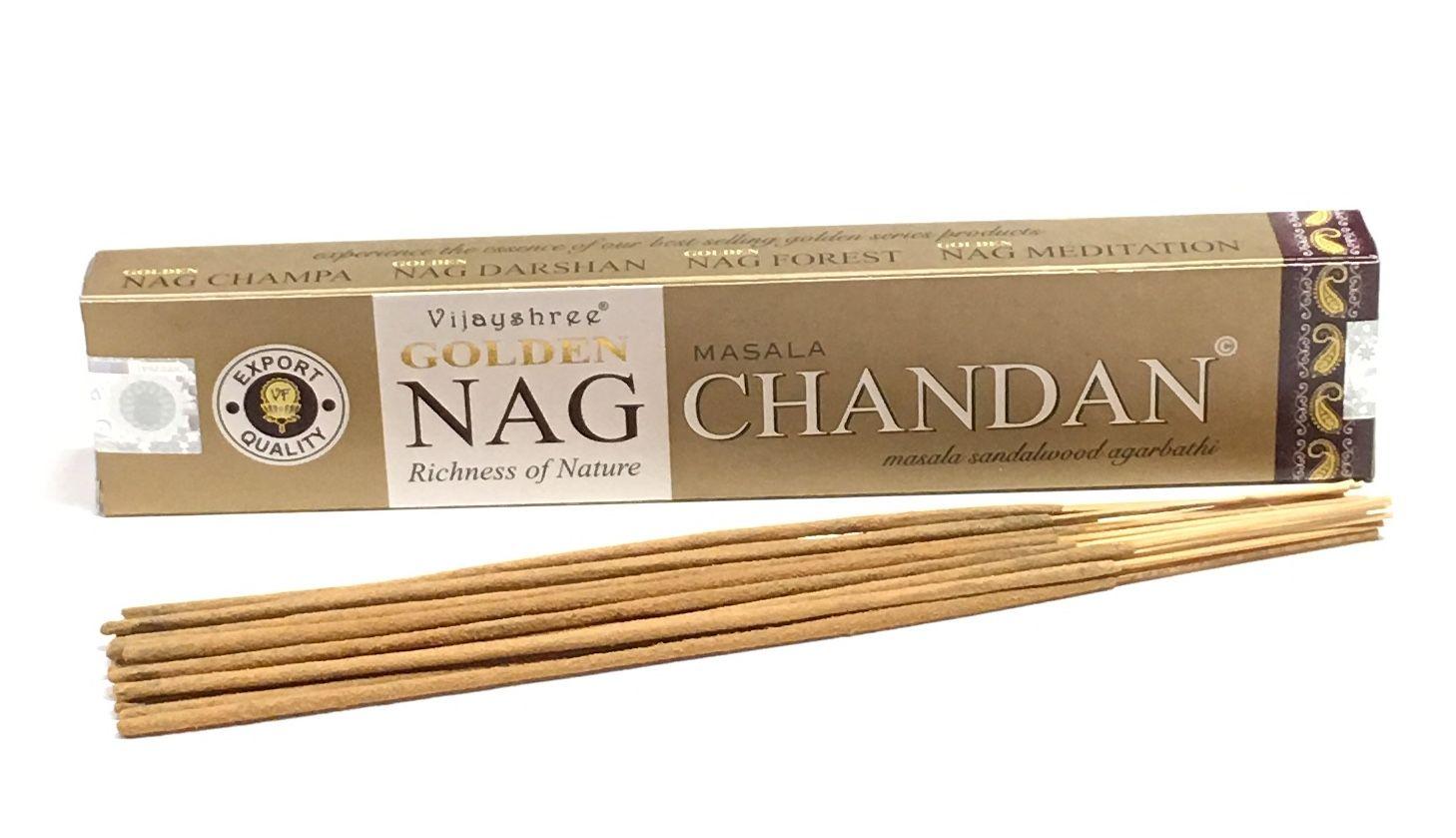 Incienso NAG CHANDAN GOLDEN  (15 g aprox. 15 sticks)