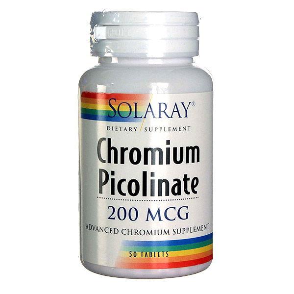 PICOLINATO de Cromo 200 mcg.  (50 comprimidos)