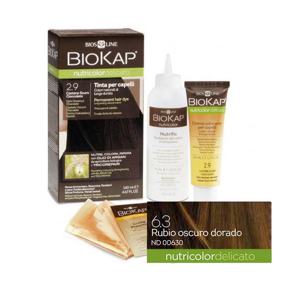 BIOKAP DELICATO 6.30 Rubio Dorado Osc. (140 ml.)