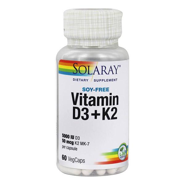 VITAMINA D3 + K2 (MK7) (60 cápsulas)