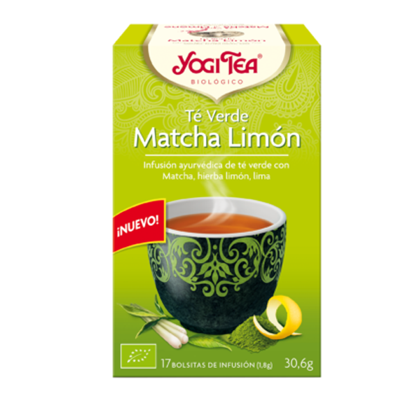 YOGI TEA Te Verde Matcha Limón bio (17 filtros)